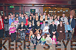 CHRISTENING: Proud parents Claire Neligan, Knocknagoshel and Sean Hegarty, Shanakill (seated 4th and 5th left) of little Jack who was Christened at St Mary's Church Knocknagoshel celebrating with family and friends at Meadowlands Hotel on Saturday..   Copyright Kerry's Eye 2008
