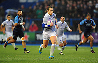 Max Clark of Bath Rugby goes on the attack. European Rugby Challenge Cup match, between Cardiff Blues and Bath Rugby on December 10, 2016 at the Cardiff Arms Park in Cardiff, Wales. Photo by: Patrick Khachfe / Onside Images