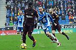League Santander 2017-2018 - Game: 22.<br /> RCD Espanyol vs FC Barcelona: 1-1.<br /> Samuel Umtiti vs Sergi Darder.