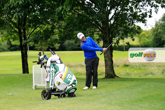 Caolan Rafferty (Greenore) on the 2nd during round 1 of The Mullingar Scratch Cup in Mullingar Golf Club on Sunday 3rd August 2014.<br /> Picture:  Thos Caffrey / www.golffile.ie