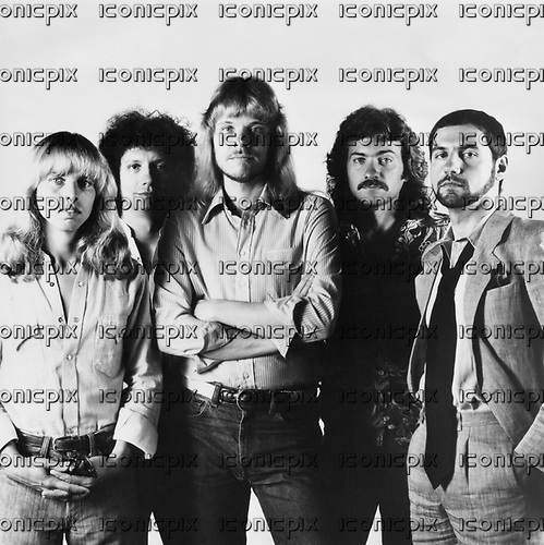 STYX - L-R: Tommy Shaw, John Panozzo, James Young, Dennis De Young, Chuck Panozzo - 1979.  Photo credit: MM-Media/IconicPix