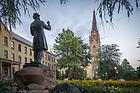 July 20, 2017; Corby statue (Photo by Matt Cashore/University of Notre Dame)