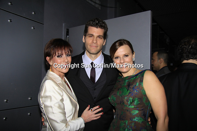 Empires star Kevin DeBacker poses with Presenter As The World Turns Colleen Zenk (Thurston) and her daughter Kelsey Crouch at We Love Soaps and The Indie Series Network present the 4th Annual Indie Soap Awards - ISAs on February 19, 2013 from New World Stages, New York City, New York.  (Photo by Sue Coflin/Max Photos)