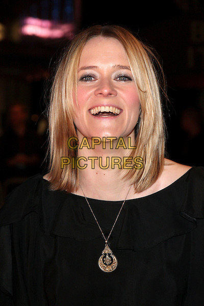 "EDITH BOWMAN.""Marley & Me"" UK film premiere held at Vue cinema, Leicester Square, London, England..March 2nd, 2009. .headshot portrait black gold necklace mouth open.CAP/ROS.©Steve Ross/Capital Pictures."