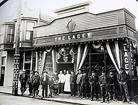 BNPS.co.uk (01202 558833)<br /> Pic: Elstob&Elstob/BNPS<br /> <br /> The Lacey restaurant in Nome, Alaska.<br /> <br /> Fascinating photos documenting the famous Alaska 'gold rush' have come to light 120 years later.<br /> <br /> Thousands of people chasing riches ventured into the North American wilderness after gold was discovered in Nome in 1899.<br /> <br /> Over the next decade a staggering 112 tonnes of gold was sourced.<br /> <br /> Unsurprisingly, everyone wanted a piece of the action, leading to a huge influx of people to the area.<br /> <br /> Its transformation into a thriving metropolis was documented by acclaimed American photographer Frank Nowell.
