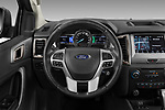 Car pictures of steering wheel view of a 2018 Ford Ranger Limited-Black-Edition 4 Door Pick-up Steering Wheel