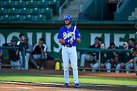 Cody Thomas (46) of the Ogden Raptors at bat against the Grand Junction Rockies in Pioneer League action at Lindquist Field on August 25, 2016 in Ogden, Utah. The Rockies defeated the Raptors 12-3. (Stephen Smith/Four Seam Images)