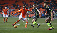 Blackpool's Sean Longstaff and Bristol Rovers' Stuart Sinclair<br /> <br /> Photographer Stephen White/CameraSport<br /> <br /> The EFL Sky Bet League One - Blackpool v Bristol Rovers - Saturday 13th January 2018 - Bloomfield Road - Blackpool<br /> <br /> World Copyright &copy; 2018 CameraSport. All rights reserved. 43 Linden Ave. Countesthorpe. Leicester. England. LE8 5PG - Tel: +44 (0) 116 277 4147 - admin@camerasport.com - www.camerasport.com