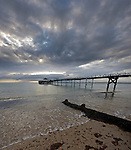 Evening falls over Totland Bay, Isle of Wight