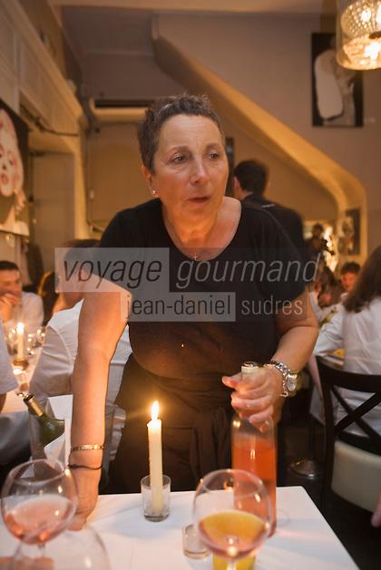 Europe/France/Provence-Alpes-Côte d'Azur/06/Alpes-Maritimes/Nice: Nicole Ruby ,  Restaurant :La Petite Maison, 11, rue St François de Paule,  [Non destiné à un usage publicitaire - Not intended for an advertising use]