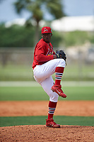St. Louis Cardinals pitcher Dewin Perez (7) during a Minor League Spring Training intrasquad game on March 31, 2016 at Roger Dean Sports Complex in Jupiter, Florida.  (Mike Janes/Four Seam Images)