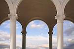 Pillars, Arches And Cloudy Skies, Ault Park, Cincinnati, Ohio