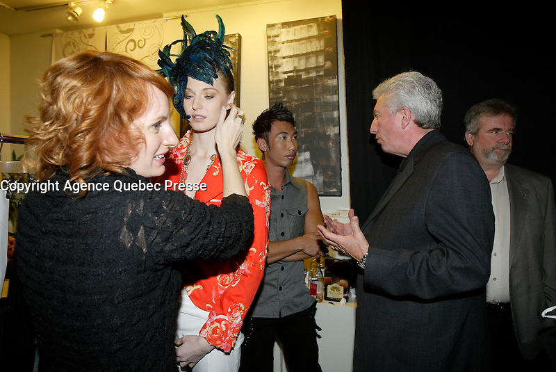 Montreal (QC) CANADA, October 3rd 2007 -<br /> <br /> Gilles Duceppe, leader of the Bloc Quebecois (R) at the<br /> Launch of Montreal Designer Dinh Ba, at his boutique on Amherst street in Montreal.<br /> <br /> <br /> photo : (c) &uml;Pierre Roussel -  images Distribution