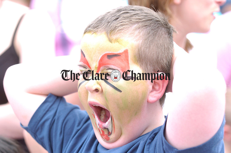 Jason Smith enjoying all the fun during the street carnival in Ennis market on Sunday. Photograph by John Kelly.