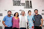 """The left to the right, Antonio de la Torre, the producer, Luis Callejo, Ruth Diaz and the director of the film, Raul Arevalo during the presentation of the spanish film """" Tarde para la Ira"""" at Cines Palafox in Madrid. September 06, Spain. 2016. (ALTERPHOTOS/BorjaB.Hojas)"""