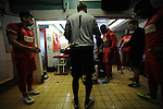 Stamford AFC 2 Marine 4, 29/03/2014. Wothorpe Road, Northern Premier League. The Stamford changing room ahead of The Northern Premier League game between Stamford AFC and Marine from The Daniels Stadium. Marine won the game 4-2 in front of 320 supporters to boost their chances of relegation survival. Stamford AFC are moving to the brand new Zeeco Stadium at the end of the 2013/14 season Photo by Simon Gill.