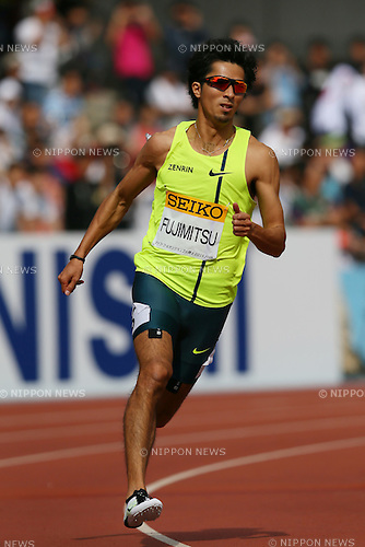 Kenji Fujimitsu, MAY 10, 2015 - Athletics : IAAF World Challenge Seiko Golden Grand Prix in Kawasaki, Men's 200m at Todoroki Stadium, Kanagawa, Japan. (Photo by YUTAKA/AFLO SPORT)