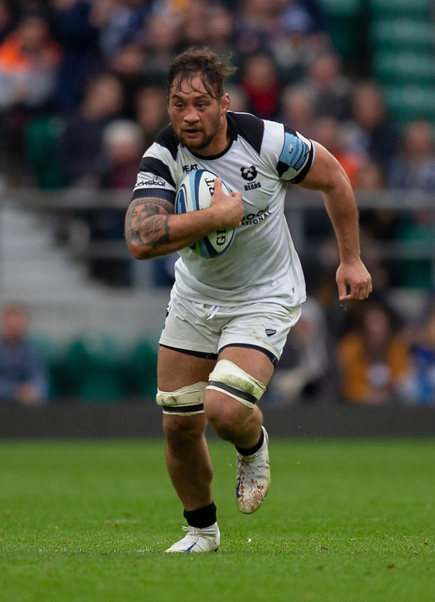 Bristol Bears' Jack Lam in action during todays match<br /> <br /> Photographer Bob Bradford/CameraSport<br /> <br /> Gallagher Premiership - Bath Rugby v Bristol Bears - Saturday 6th April 2019 - The Recreation Ground - Bath<br /> <br /> World Copyright © 2019 CameraSport. All rights reserved. 43 Linden Ave. Countesthorpe. Leicester. England. LE8 5PG - Tel: +44 (0) 116 277 4147 - admin@camerasport.com - www.camerasport.com