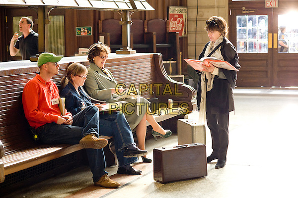 Associate Producer/Assistant to Nora Ephron, J.J. Sacha, Script Supervisor and Co-Producer, Dianne Dreyer,  Meryl Streep & Writer- director Nora Ephron on the set of Julie & Julia .*Filmstill - Editorial Use Only*.CAP/FB.Supplied by Capital Pictures.