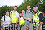 VOLUNTEERS: Looking after the walkers on the Stuart Mangan Dingle Way Challenge were Civil Defence volunteers Cathriona Foley, Vincent O'Connor, Noelle O'Mahoney, Sean Guilfoyle and James O'Brien.