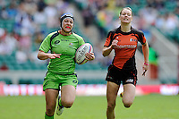 Emilee Cherry of Australia in action during the iRB Challenge Cup at Twickenham on Sunday 13th May 2012 (Photo by Rob Munro)