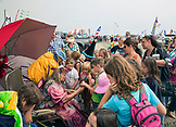 USA, Washington State, Long Beach Peninsula, International Kite Festival, the fairy godmother passes out toys to kids