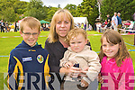 Cian, Geraldine, Cillian and Aoife Cronin Firies looking at all the lovely dogs at the Killarney and District International dog show in Killarney on Tuesday
