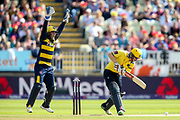 Glamorgan's Chris Cooke unsuccessfully appeals to the umpire for an lbw decision against Birmingham Bears' Ed Pollock<br /> <br /> Photographer Andrew Kearns/CameraSport<br /> <br /> NatWest T20 Blast Semi-Final - Birmingham Bears v Glamorgan - Saturday 2nd September 2017 - Edgbaston, Birmingham<br /> <br /> World Copyright &copy; 2017 CameraSport. All rights reserved. 43 Linden Ave. Countesthorpe. Leicester. England. LE8 5PG - Tel: +44 (0) 116 277 4147 - admin@camerasport.com - www.camerasport.com