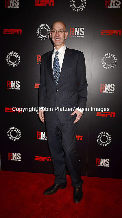 Adam Silver, NBA Commissioner, attends The Paley Center for Media's Annual Benefit Dinner honoring ESPN' s 35th Anniversary on May 28, 2014 at 583 Park Avenue in New York City, NY, USA.