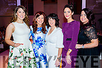 Marie Louise Moriarty (Inch) Nicole O'Brien (Listry) Christine O'Brien (Milltown) Therese Ferris (Beaufort) and Liz Carroll (Gneeveguilla), pictured at KFW Irish Fashion Industry Awards at the Europe Hotel, Killarney on Friday night