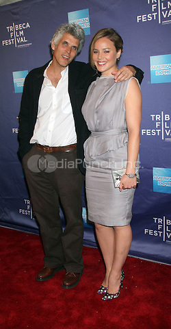 "Director David Riker and Abbie Cornish at the premiere of ""The Girl"" at the 2012 Tribeca Film Festival in New York City. April 20, 2012. Credit: RW/MediaPunch Inc."