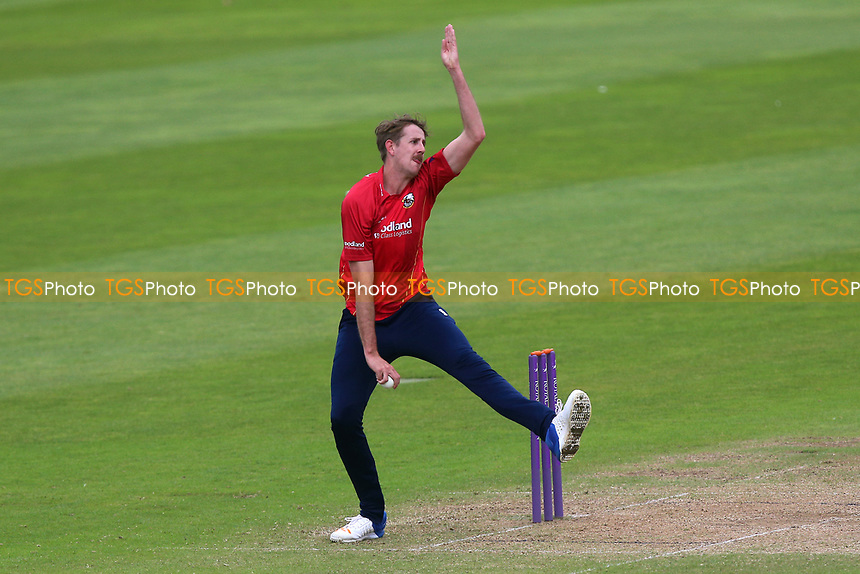 Matt Quinn in bowling action for Essex during Somerset vs Essex Eagles, Royal London One-Day Cup Cricket at The Cooper Associates County Ground on 14th May 2017