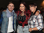 Ian McEnteggart, Sinead Fagan and Louise Ward at the Hoolie on the Hill. Photo:Colin Bell/pressphotos.ie