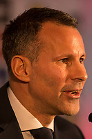 Ryan Giggs faces the press as he is unveiled as the new Wales National team Manager at Hensol Castle, Vale of Glamoran, on 15 January 2018. Photo by Mark Hawkins.