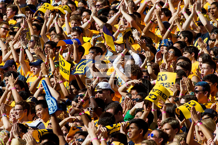 The Cal fans during the CAL Football vs Northwestern at Memorial Stadium in Berkeley, California on August 31, 2013.