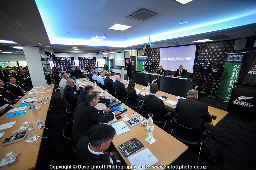 The 2019 New Zealand Rugby Annual General Meeting at the New Zealand Rugby House in Wellington, New Zealand on Wednesday, 17 April 2019. Photo: Dave Lintott / lintottphoto.co.nz