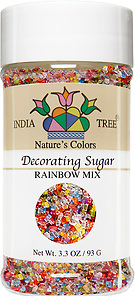 10260 Nature's Colors Rainbow Mix Decorating Sugar, Small Jar 3.3 oz