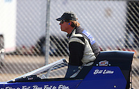 Feb 8, 2014; Pomona, CA, USA; NHRA top alcohol dragster driver Bill Litton during qualifying for the Winternationals at Auto Club Raceway at Pomona. Mandatory Credit: Mark J. Rebilas-
