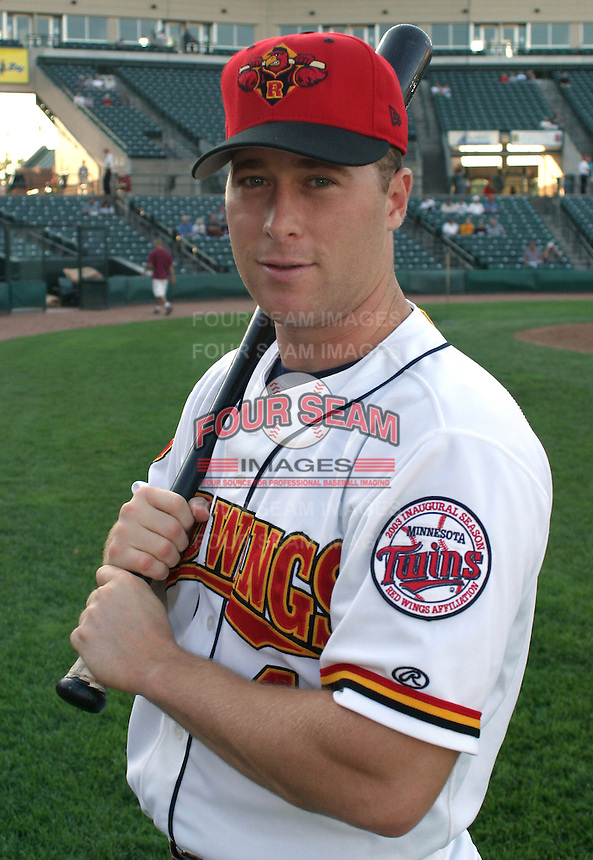 August 26, 2003:  Outfielder Lew Ford of the Red Wings, Class-AAA affiliate of the Minnesota Twins, during a International League game at Frontier Field in Rochester, NY.  Photo by:  Mike Janes/Four Seam Images