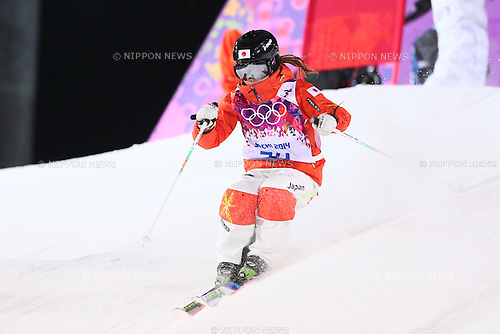 Arisa Murata (JPN), <br /> FEBRUARY 5, 2014 - Freestyle Skiing : <br /> Women's Moguls training session <br /> at &quot;ROSA KHUTOR&quot; Extreme Park <br /> during the Sochi 2014 Olympic Winter Games in Sochi, Russia. <br /> (Photo by Yohei Osada/AFLO SPORT)