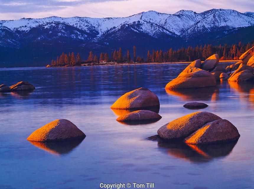 Lake Tahoe sunset Lake Tahoe State Park, Nevada  March