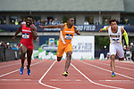 EUGENE, OR - JUNE 09: Christian Coleman of the University of Tennessee races to a first place finish in the 100 meter dash during the Division I Men's Outdoor Track & Field Championship held at Hayward Field on June 9, 2017 in Eugene, Oregon. Coleman won the event with a 10.04 time. (Photo by Jamie Schwaberow/NCAA Photos via Getty Images)