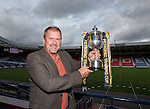 Ally Dawson at Hampden for the Petrofac Cup draw