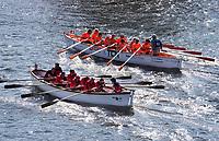 Nederland - Zaandam 2019. De jaarlijkse sloepenrace Slag om de Zaan in Zaandam. Een spectaculaire sloeproeiwedstrijd van ruim 16 kilometer over de Zaan. Foto Berlinda van Dam / Hollandse Hoogte