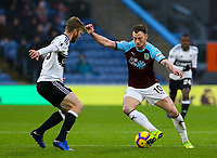 Burnley's Ashley Barnes takes on Fulham's Tim Ream<br /> <br /> Photographer Alex Dodd/CameraSport<br /> <br /> The Premier League - Burnley v Fulham - Saturday 12th January 2019 - Turf Moor - Burnley<br /> <br /> World Copyright © 2019 CameraSport. All rights reserved. 43 Linden Ave. Countesthorpe. Leicester. England. LE8 5PG - Tel: +44 (0) 116 277 4147 - admin@camerasport.com - www.camerasport.com