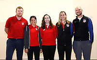 Oceanside, CA-Wednesday, June 19, 2019: US Soccer Coaches Ed Event at QLN conference center.  US Soccer staff being recognized before the event.