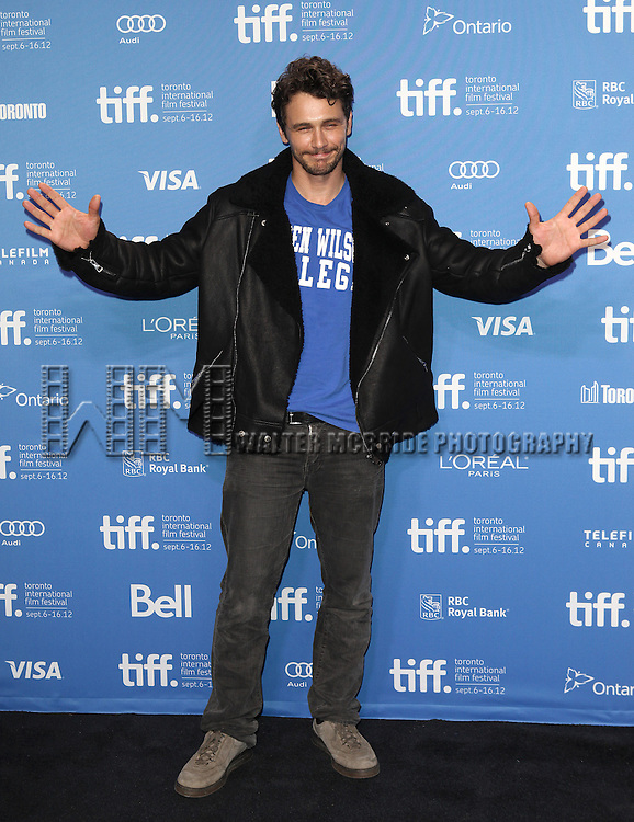 James Franco attending the The 2012 Toronto International Film Festival.Photo Call for Spring Breakers' at the TIFF Bell Lightbox in Toronto on 9/7/2012