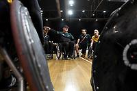 Brad Dubberley (AUS) vs GB<br /> Australian Wheelchair Rugby Team<br /> 2018 IWRF WheelChair Rugby <br /> World Championship / Semi Finals<br /> Sydney  NSW Australia<br /> Thursday 9th August 2018<br /> © Sport the library / Jeff Crow / APC