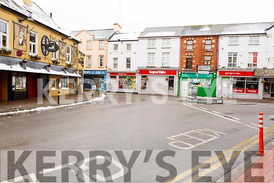 Lower Rock Street deserted on Friday morning last.