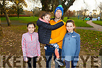 Enjoying the Sunday morning Park run. L-r, Lucy, Sophie and Alan Mulgrew and Ciara Gallagher from Tralee.